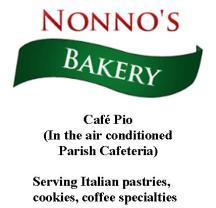 Nonno's Bakery menu