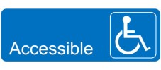 handicap sign horizontal