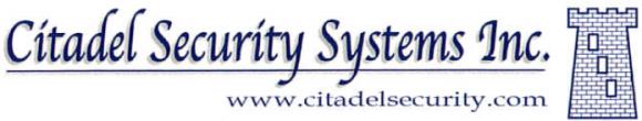 citadel logo white