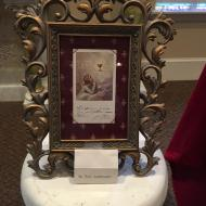 Relic - holy card with Pio's signature